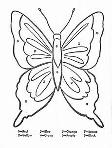 color by number worksheets butterfly 16083 color by number caterpillars butterflies bees ladybugs theme butterfly coloring page