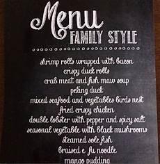 Family Style Wedding Menu Ideas