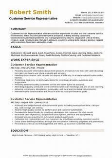 customer service representative resume sles qwikresume