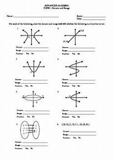 domain and range w graphs worksheet by math guru and little guru