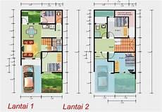 Denah Rumah Minimalis Sederhana 1 Lantai Dan 2 Lantai