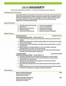teacher resume exles education sle resumes livecareer teacher resume exles