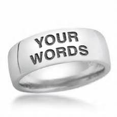 design your own word wedding ring