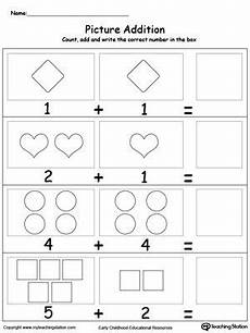 shapes and numbers worksheets for preschoolers 1207 adding numbers with shapes kindergarten math worksheets kindergarten worksheets math worksheets