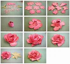 Papierblumen Basteln Anleitung - for 3d layered from the sil store http
