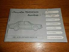 auto manual repair 1985 audi 5000s interior lighting 1981 audi 5000 turbo original owner manual good condition 81 ebay