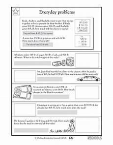 everyday math 5th grade worksheets 4th grade 5th grade math worksheets everyday math problems harder greatschools