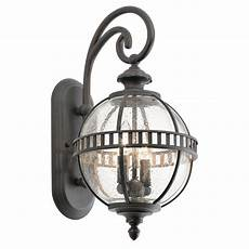 victorian small globe style exterior lantern in londonderry finish