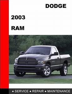 auto manual repair 2003 dodge ram van 1500 parking system dodge ram 2003 1500 2500 3500 factory service repair manual tradebit