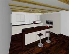 küchen mit theke 3d planung k 252 che mit insel und theke