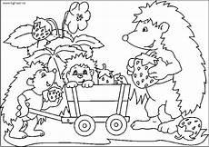 plansa de colorat cu o familie de arici planse de colorat