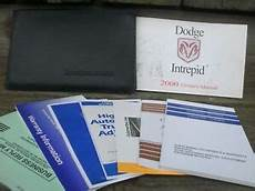 free online auto service manuals 2002 dodge intrepid parking system used 2000 dodge intrepid owner s manual with supplements and case ebay