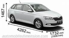 Dimensions Of škoda Cars Showing Length Width And Height