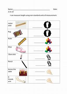 measuring using non standard units of measurement teaching resources