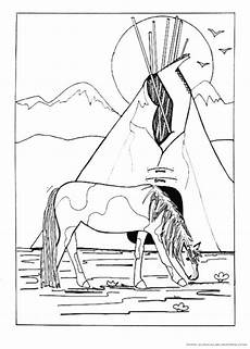 Ausmalbild Indianer Pferd Pin Jerri Paulk Auf Glass Etchings Ausmalbilder