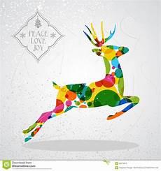 merry christmas colorful reindeer shape stock vector image 33074572