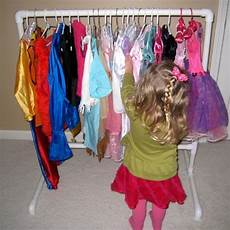 four by two hanging it up diy dress up clothes rack