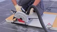 scie circulaire sur rail de guidage rubi tc 180