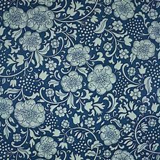 1960s 70s Original Blue Floral Wallpaper Retro Vintage