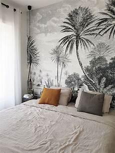 T 234 Te De Lit Avec Le Papier Peint Panoramique Oasis Des