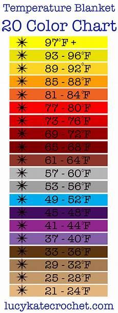 Horse Blanket Temperature Chart Fahrenheit Temperature Blanket How To Make A Crochet Temperature