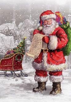 antique santa postcards and vintage illustrations