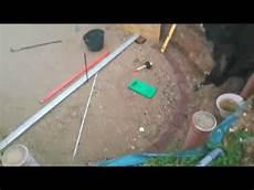 Stahlwandpool Ohne Bodenplatte Betonplatte Aufbauen Teil