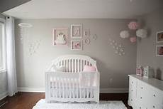 pink and gray baby nursery tour oh glows