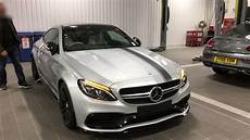 Mercedes Amg C63s - mercedes c63s amg coupe edition 1 silver walk around