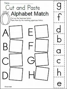 alphabet match worksheet for fall alphabet worksheets