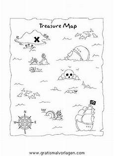 blank treasure map template free ausmalbild schatzkarte