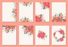 flower card design template floral wedding invitation card vectors free
