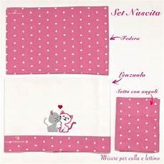misure lenzuolino copertina nascita rosa con ricamo gattini innamorati