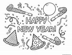free printable new year coloring pages for free