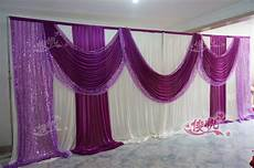 10ft 20ft lilac purple wedding stage decoration wedding backdrop with beatiful swag wedding