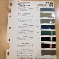 find 1948 nash sherwin williams paint color chip chart car mixing guide motorcycle in franklin