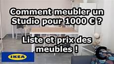 Meubler Un Studio Pour 1000 Liste Et Prix Des Meubles