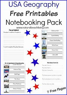 free printable usa geography notebooking pack homeschool giveaways