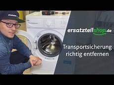 Transportsicherung Waschmaschine Entfernen So Geht Es