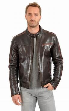 veste style motard homme 84241 blouson cuir homme style motard daytona 73 la canadienne blouson cuir marron
