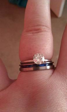 anyone have wedding bands that do not quot match your engagement ring