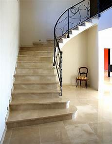 Escaliers En Travertin Marbrerie Arnaud