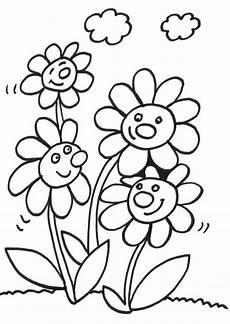 Malvorlage Biene Und Blume Kostenlose Malvorlage Blumen Vier Lachende Blumen Zum