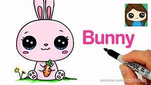How To Draw A Cartoon Bunny Rabbit Easy – Kids YouTube