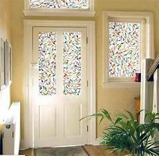 plastique autocollant pour fenetre decorative windows static cling stained leaf glass