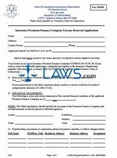 insurance premium finance company premium finance company renewal application connecticut