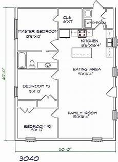 30x40 house floor plans barndominium floor plans floor plans 30x40 floor plan