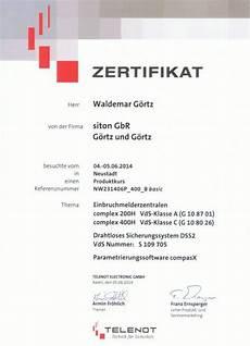 telenot electronic gmbh zertifizierung