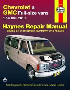 car repair manuals online free 2012 gmc savana haynes chevrolet gmc full size vans 1996 2010 auto repair manual