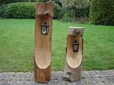 Handgefertigte Dekoration Natur Baumstamm Mit